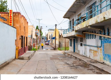 Back street in Nogales, Sonora State in Mexico