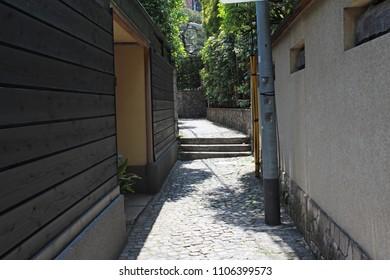 back streets of Kagurazaka in tokyo.