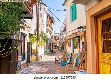 Back streets, Skiathos, Greece.