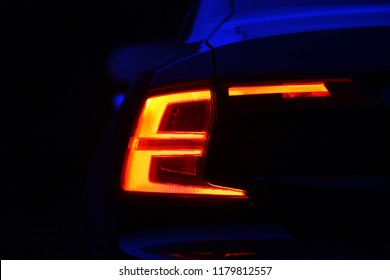 back tail lights in the dark at night