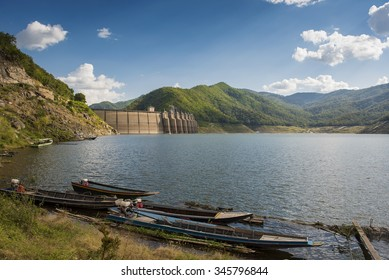 Back view of Bhumibol dam Tak,Thailand.
