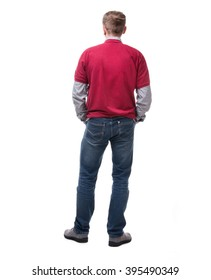 back view of a casual style man