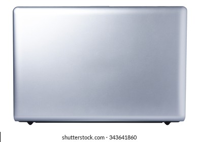 Back view laptop isolated