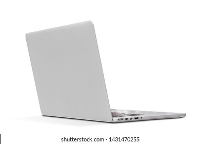 Back view Of the latest laptop Designed to be slim modren , isolated on white background with clipping path