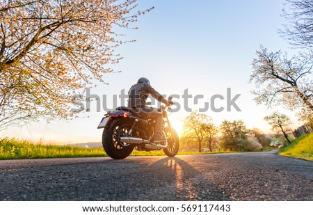 Back view of motorcycle
