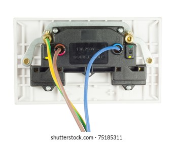 uk electrical socket images stock photos vectors shutterstock rh shutterstock com Wiring Cat5 Wall Jack Outlet Wiring