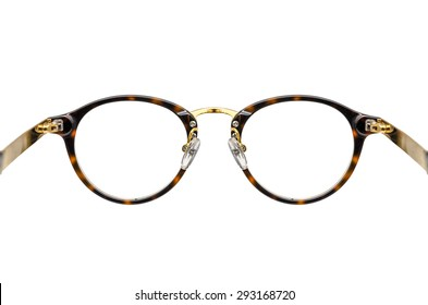 the back view of the vintage glasses
