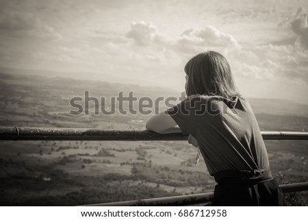 Back View Woman Emotional Sad Loneliness Stock Photo Edit Now Interesting Sad Emotional Pics