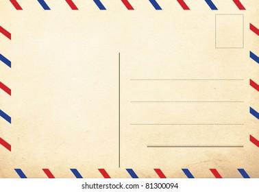 back of vintage postcards, air decor