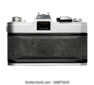 Back of vintage SLR film camera , no braning