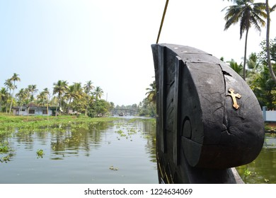 Back Waters of Kerala, seen at the front of a houseboat