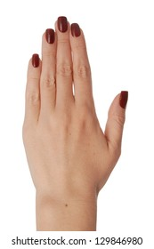 It is a back of the women's hand.