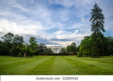 The back yard of the white house