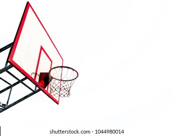 Backboard on white background. Dicut, isolated.
