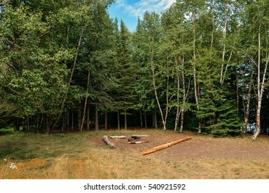 Backcountry camping site, Sleeping Giant Provincial park, Thunder Bay, Ontario