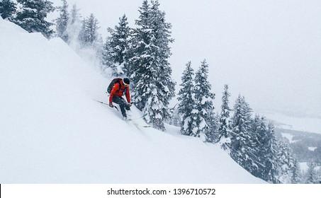 Backcountry Skiing in Winter in Salt Lake City, Utah