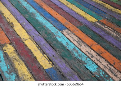 Backdrop of painted wood texture