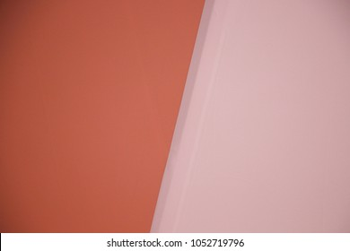 Backdrop two tone  pastel orange color wallpaper texture  clean surface on the wall background