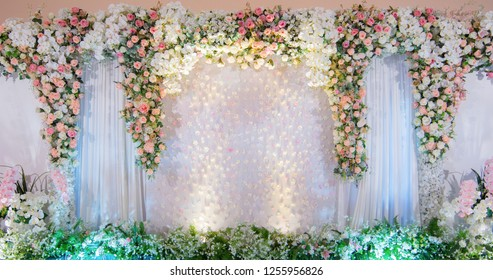 Backdrop weddings event there rose flowers, Wedding background
