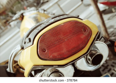 back-end of motorcycle