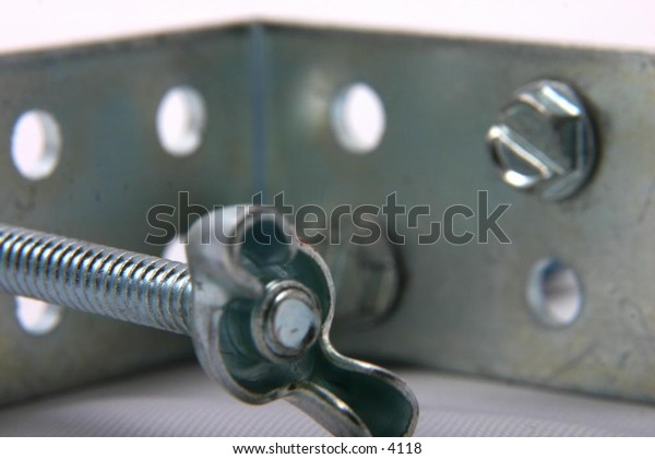 backet with bolt and nut