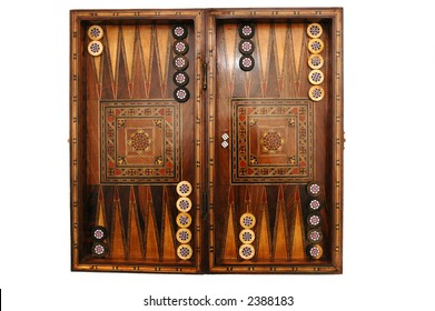 how to set up backgammon pieces
