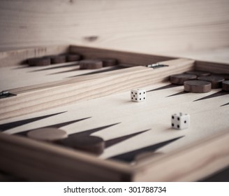 Backgammon and dices