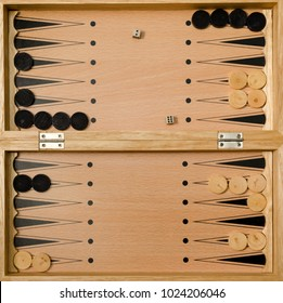 Backgammon game on the table