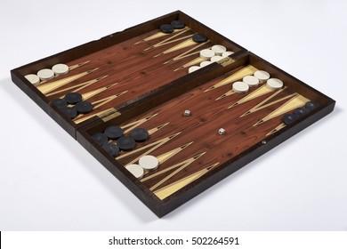 backgammon opened isolated on white background