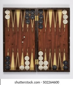 backgammon opened isolated on white background