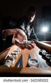 Backgammon Player showing dice six