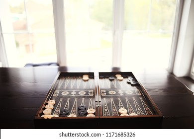 backgammon traditional oriental game, macro background gambling
