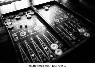 backgammon traditional oriental game, macro background gambling