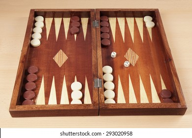 backgammon wooden board game from greece
