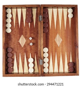 backgammon wooden tavli board game from greece