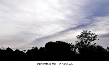 Backgound morning or evening scene, Atmosphere cloudy.