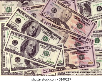 Backgroud with US dollars bills