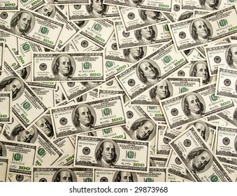 The background of the 100-dollar bills.