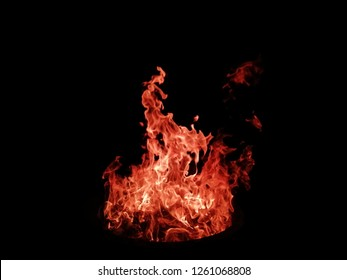 Fire​ Flame​ Blaze​ on​ Black​ Background