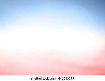 Background of 4th July concept: Blurred red, blue and white color flag