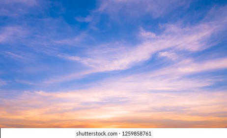 background abstract blue sky evening time beautiful in Thailand