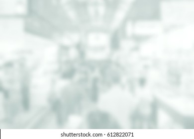 Background abstract blurred of People walk in the commercial district