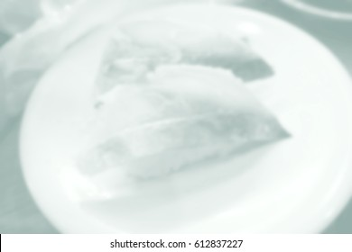 Background abstract blurred of Sushi Japanese Restaurant