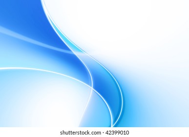 background abstract curves blue