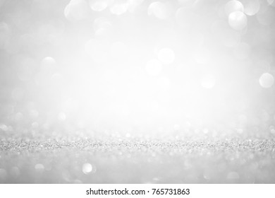 background abstract light white silver glitter sparkle with bokeh texture effect party for christmas glamour magic or art backdrop bright card decoration holiday design blur color
