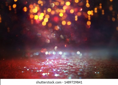 background of abstract Red glitter lights. defocused