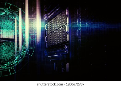 background abstract technology communication concept. concept of disk storage data center.