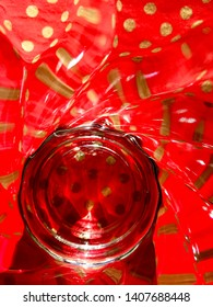 Background, abstraction, glass, light and shadows and red.