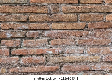 Background of age red brick wall texture