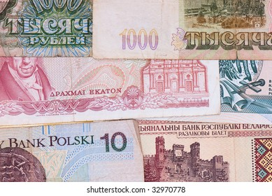 background from the age-old money of the different states